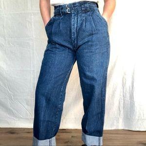 VTG 70/80s Pleated High Rise Mom Denim Trouser